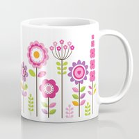 mod Mugs featuring MOD GARDEN by Daisy Beatrice