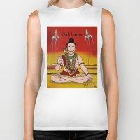 lama Biker Tanks featuring Dalí lama by Michelena