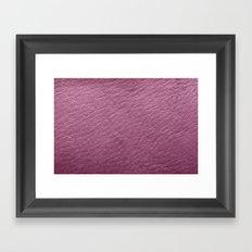 Leather Texture (Purple) Framed Art Print