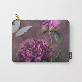 PURPLE PEONY Carry-All Pouch