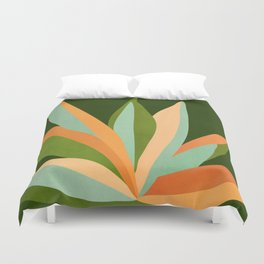Colorful Agave / Painted Cactus Illustration Duvet Cover