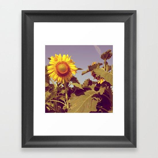 The happy flower! Framed Art Print