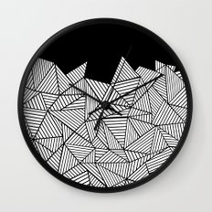 Abstraction Mountain Wall Clock