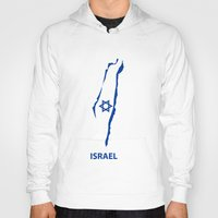 israel Hoodies featuring israel by mark ashkenazi
