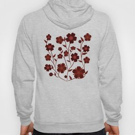 Deep Red Flowers  Hoody