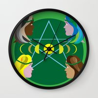 goddess Wall Clocks featuring Goddess by Watch House Design