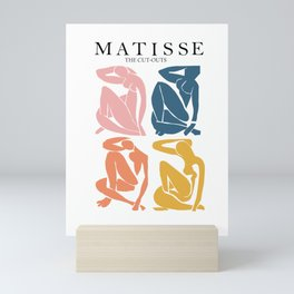 Abstract woman pastel color matisse woman artwork the cut outs Mini Art Print