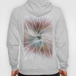 A Floral Friend, Abstract Fractal Art Hoody