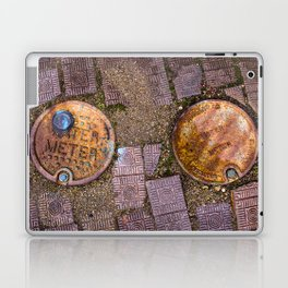 Water Meter Caps, from my street photography collection Laptop & iPad Skin