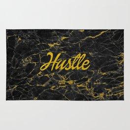 Gold Hustle Black Marble Rug