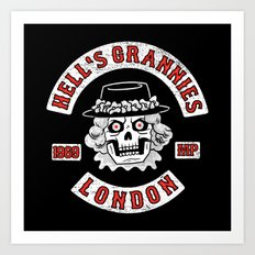 Hell's Grannies 1969 Art Print