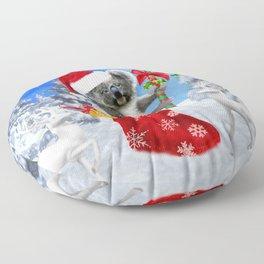 Baby Koala Christmas Cheer Floor Pillow