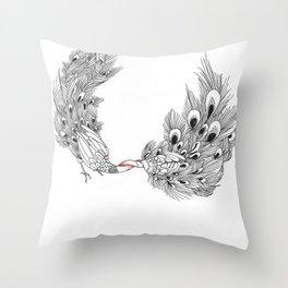 Peacock III Throw Pillow