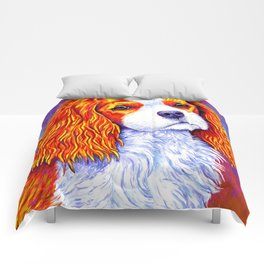 Colorful Cavalier King Charles Spaniel Comforters