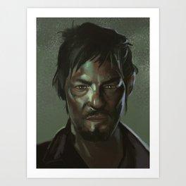 Daryl the Zombie Hunter Art Print