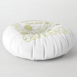 Crochet Grandma Floor Pillow