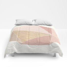 Gold Gem Geometric Painting Comforters