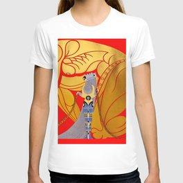 """Art Deco Design """"Samson & Delilah"""" T-shirt"""