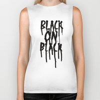 acdc Biker Tanks featuring Black on black by POP.
