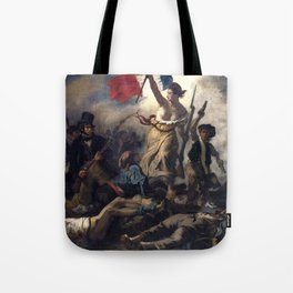 Liberty Leading the People by Eugène Delacroix (1830) Tote Bag