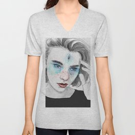 Third eye girl sketch Unisex V-Neck