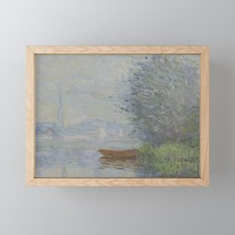 Autumn on the Seine, Argenteuil Framed Mini Art Print