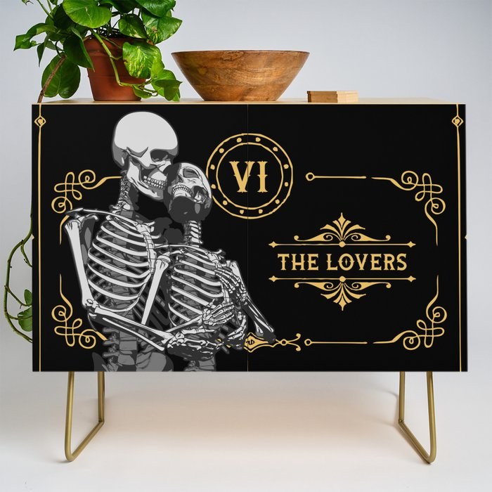 The_Lovers_VI_Tarot_Card_Credenza_by_GrandeDuc__Gold__Birch