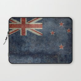 New Zealand Flag - Grungy retro style Laptop Sleeve