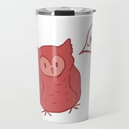 Fluffy Red Owl Travel Mug