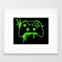 xbox Framed Art Prints featuring Xbox One Controller by meganjamo