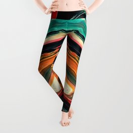 ABSTRACT COLORFUL PAINTING II-A Leggings