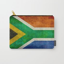 Flag of South Africa, Bright Vintage Textures Carry-All Pouch