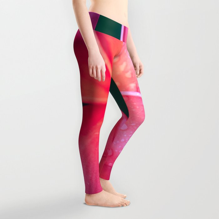Aloha Hawaii Kalama O Nei Pink Tropical Plumeria Leggings