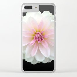 LONELY DAHLIA Clear iPhone Case