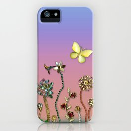 Happiness in the Garden of Bling iPhone Case