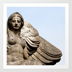 Winged Woman Art Print