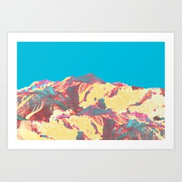 She came down from the mountain ... and she was pissed! Art Print