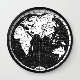 Vintage Atlas Wall Clock