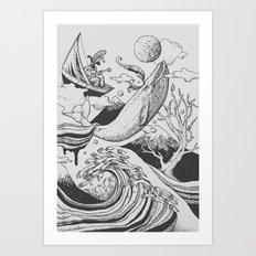 Deep and Blue Art Print