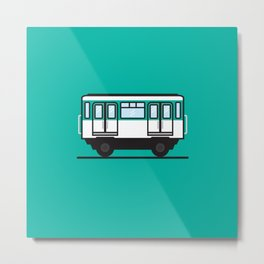 Paris subway car Metal Print