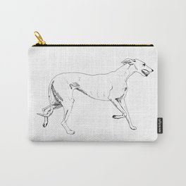 Greyhound Ink Drawing Carry-All Pouch