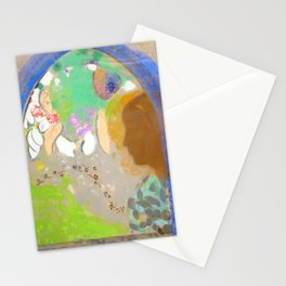 """Odilon Redon """"Profile of a Woman in the Window"""" Stationery Cards"""