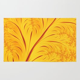 Fall Leaves Abstract Autumn Yellow Orange Gold Leaf Pattern Rug