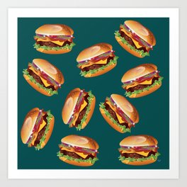 Deluxe Cheeseburger Art Print
