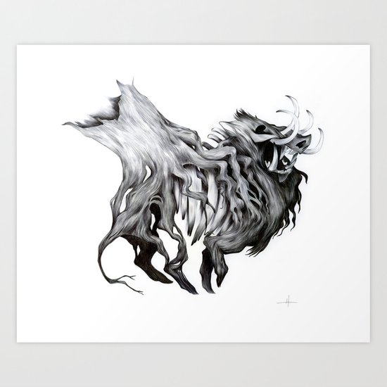 A Forest's Death Art Print