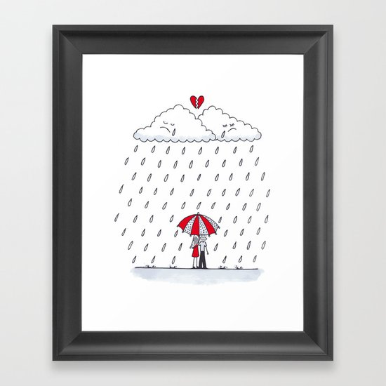 Love stories  Framed Art Print