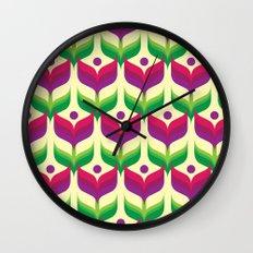 Tulip Garden Wall Clock