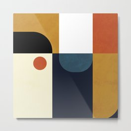 mid century abstract shapes fall winter 4 Metal Print