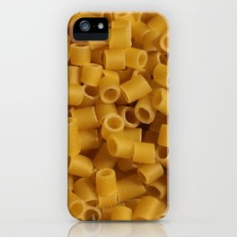 Tiny pasta pattern background texture iPhone Case