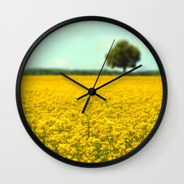 Yellow Fields Wall Clock
